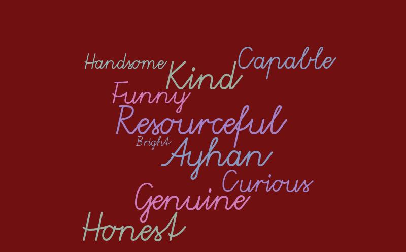 Ayhan – Word cloud – WordItOut