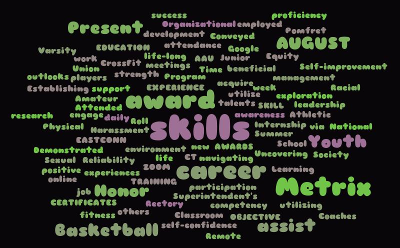 resume  u2013 word cloud  u2013 worditout